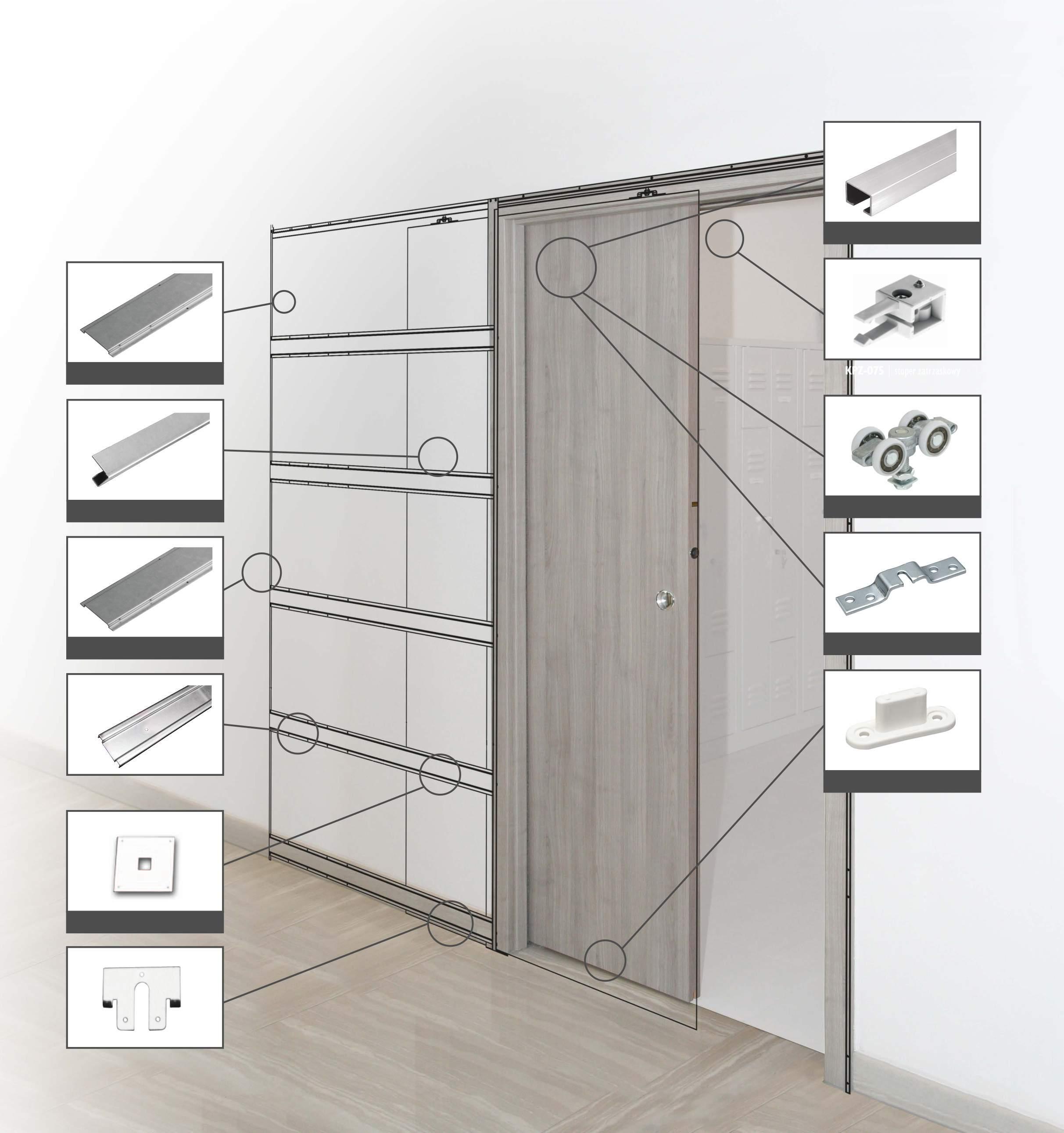Single sliding pocket door system 100 kg set soft close system 1040 mm ebay - Tips keeping sliding doors reliable functional ...